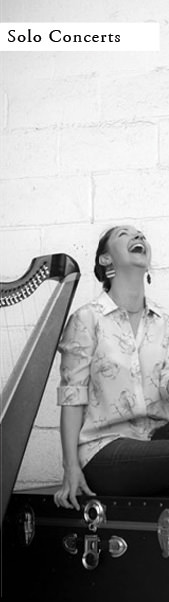 Booking solo harp concerts